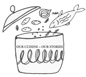our-cuiiine-our-stories-amal-laala-logo-text