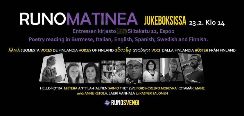 Tapahtumakuva Runomatinea Ääniä Suomesta