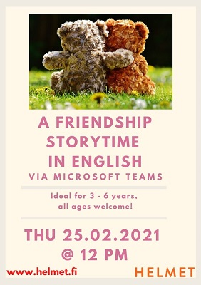 friendship storytime for 3-6 years.